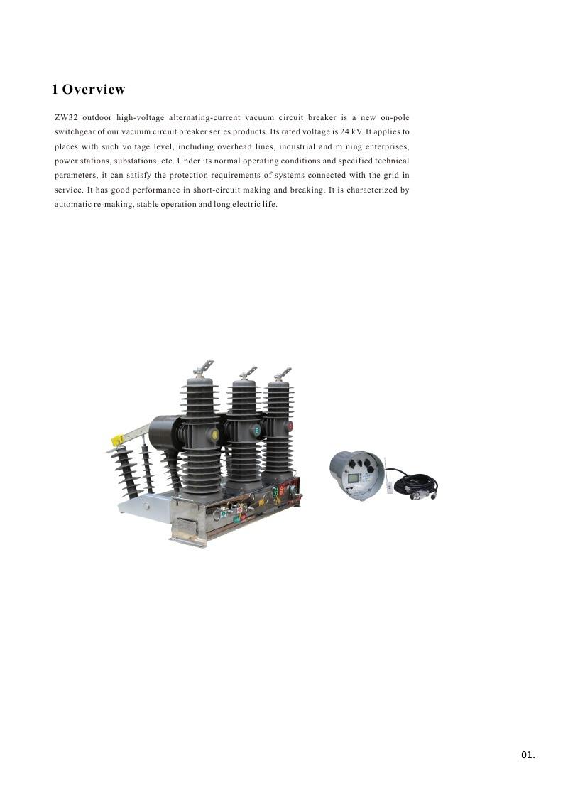 Zw32-24 Outdoor High-Voltage Alternating-Current Vacuum Circuit Breaker