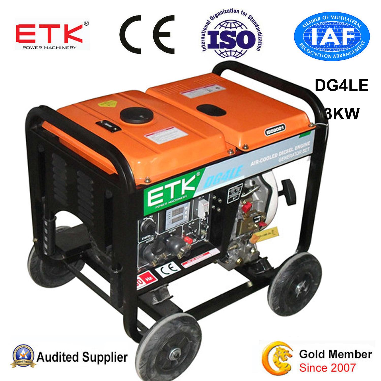 China 3kw Portable Single Phase Diesel Generator Set China