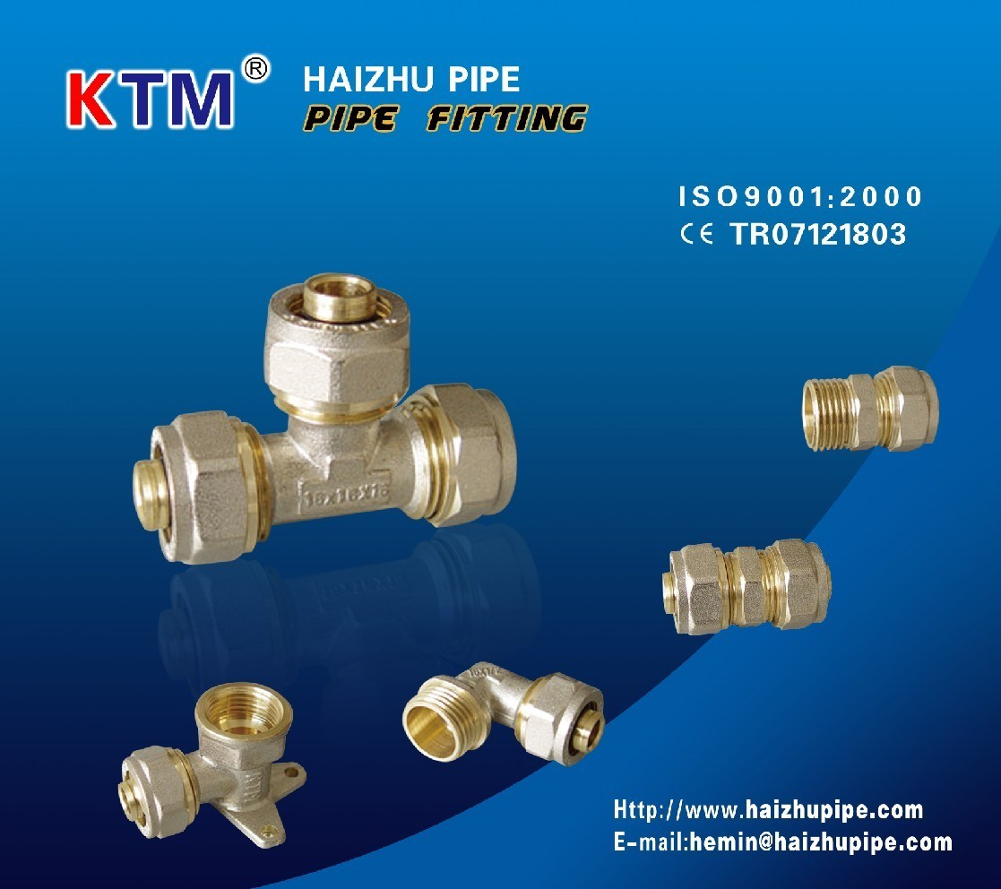 Pipe Fitting in Brass (Tee Female)