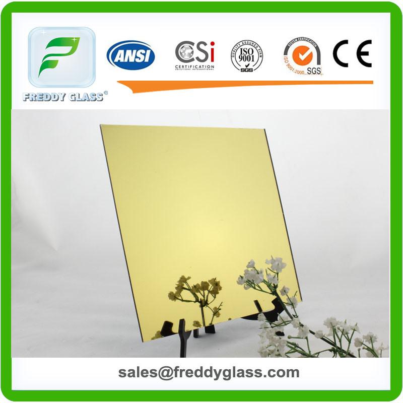 1.5mm-6mm Golden Yellow Tinted Aluminum Modern Mirror