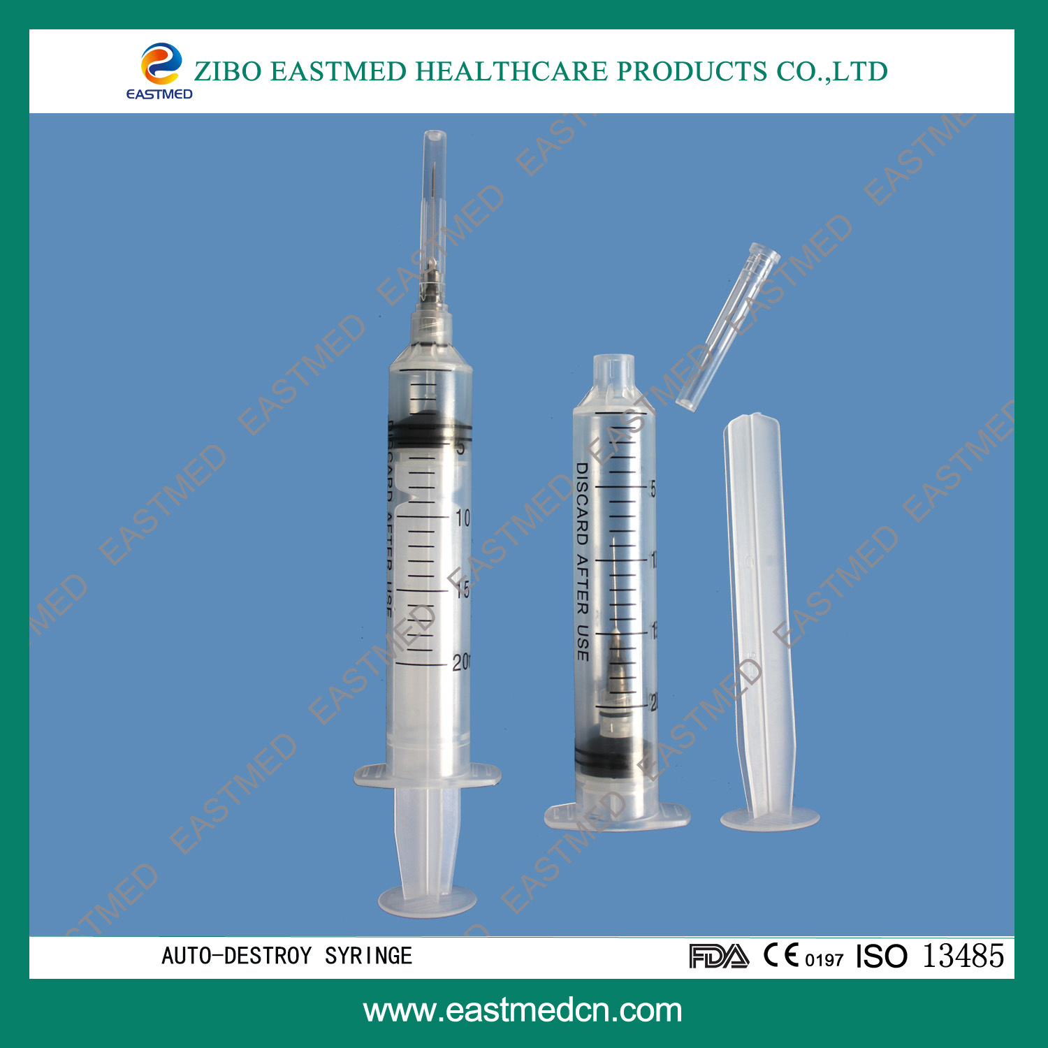 Disposable Sterile Various Sizes Safety Syringe CE/ISO13485