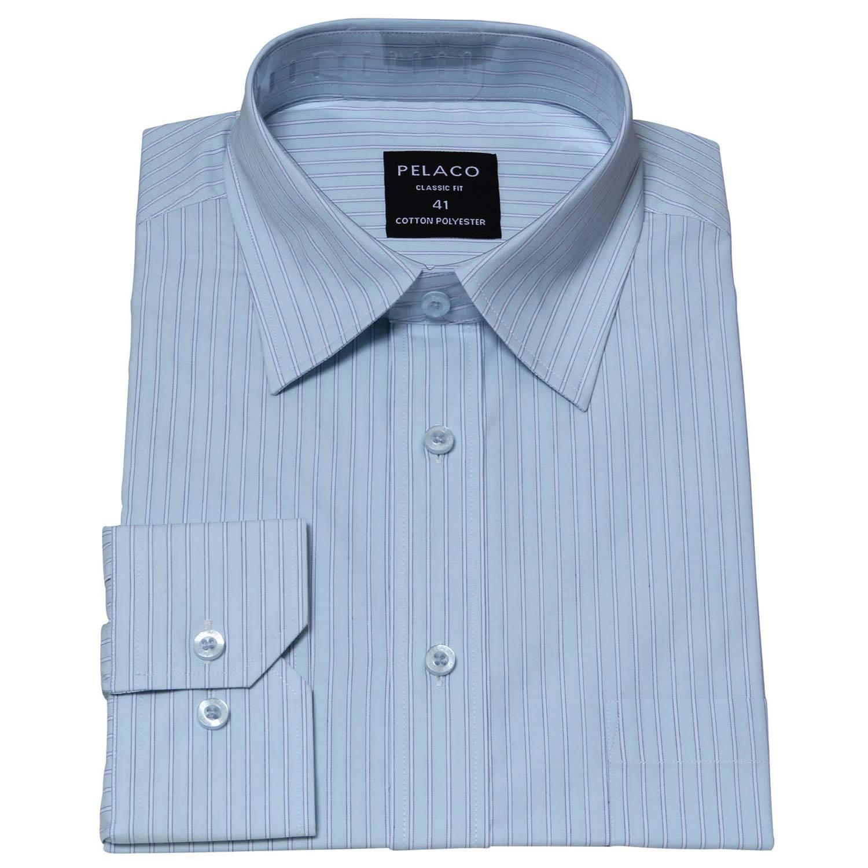 Man s non iron yarn dye cotton dress shirt for What is a non iron shirt