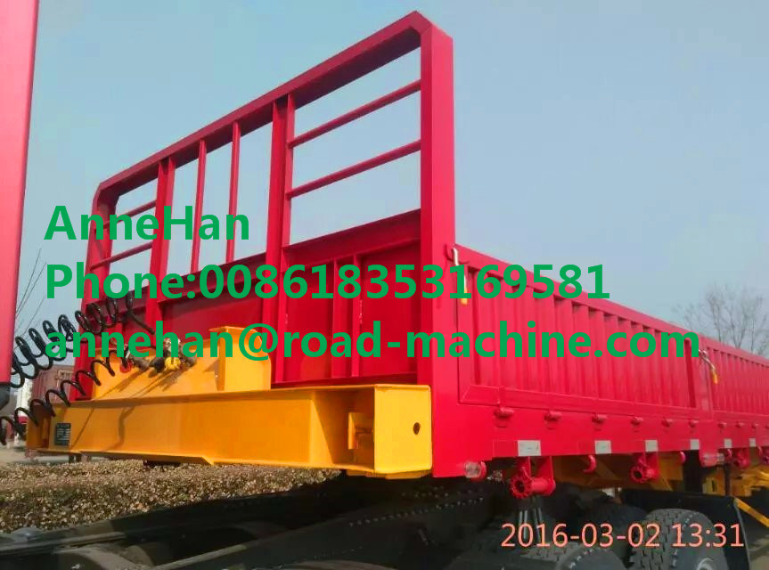 30000kg Shmc 3 Axles Double Function Container Semi Trailer
