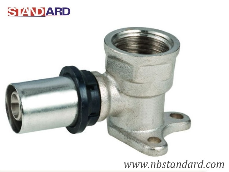Press Pex-Al-Pex Fitting/Brass Female Elbow with Wall Plated