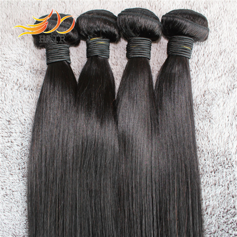 Wholesale 8A Unprocessed Remy Human Hair Weaving Straight Brazilian Virgin Hair