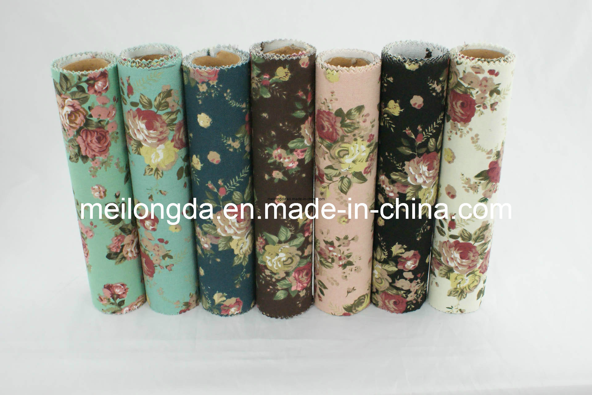 European Printed Canvas Fabric with Flower Pattern (YH359)