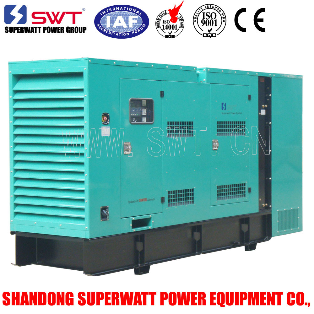 Silent Soundproof Weatherproof Enclosures Generator Set by Cummins 30kVA-2500kVA