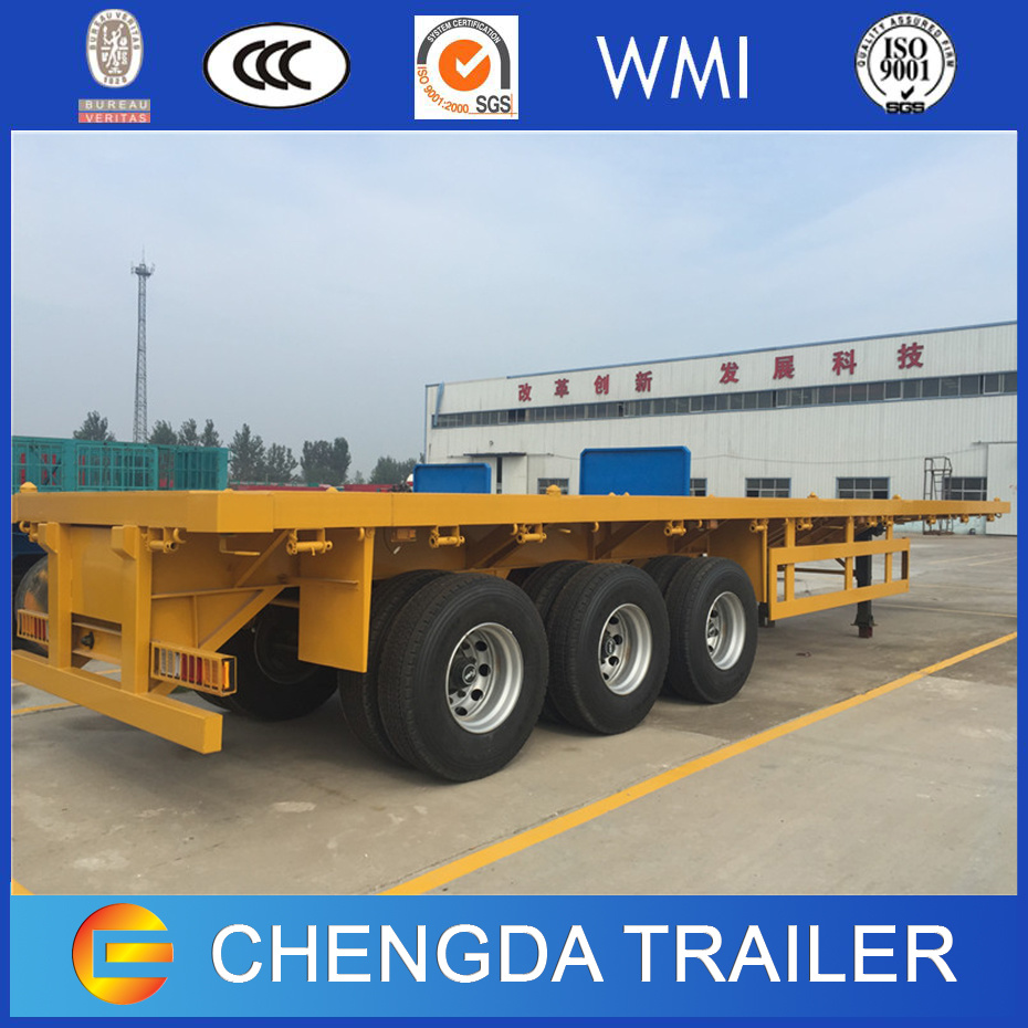 Utility Truck Trailer 40FT Gooseneck Flatbed Container Semi Trailer