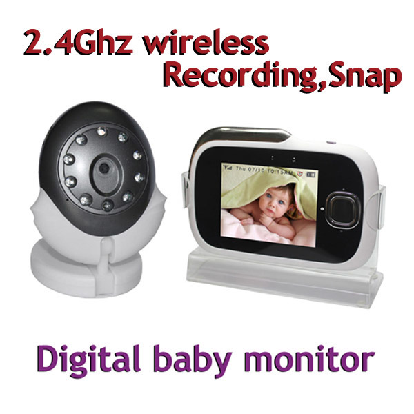 china 2 4ghz wireless digital baby monitor with recording snap portable dvr s 3202 china. Black Bedroom Furniture Sets. Home Design Ideas