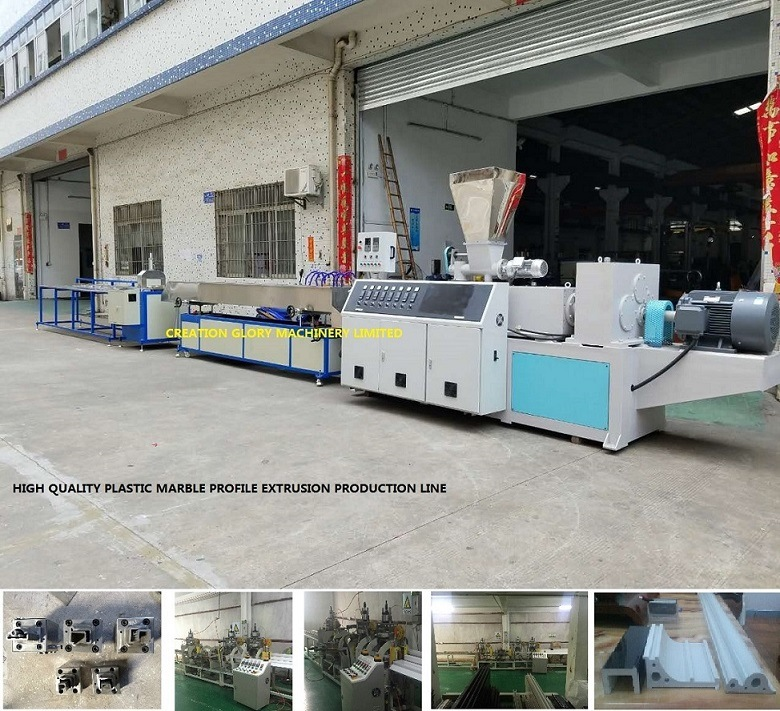 Advanced Technology Artificial Marble Profile Plastic Extruding Making Machine