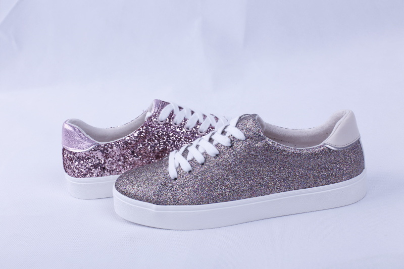 Vulcanized Shoes Rubber Outsole Glitter Fashion Bz1633