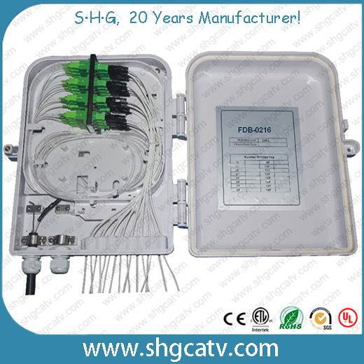 16 Splices FTTH Optical Fiber Distribution Box (FDB-0216)