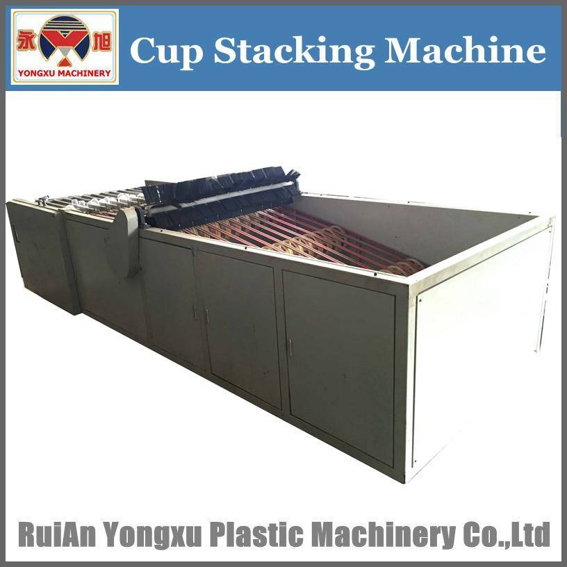 Automatic Jelly Cup Stacker, Template Type Cup Stacker, Cup Stacker
