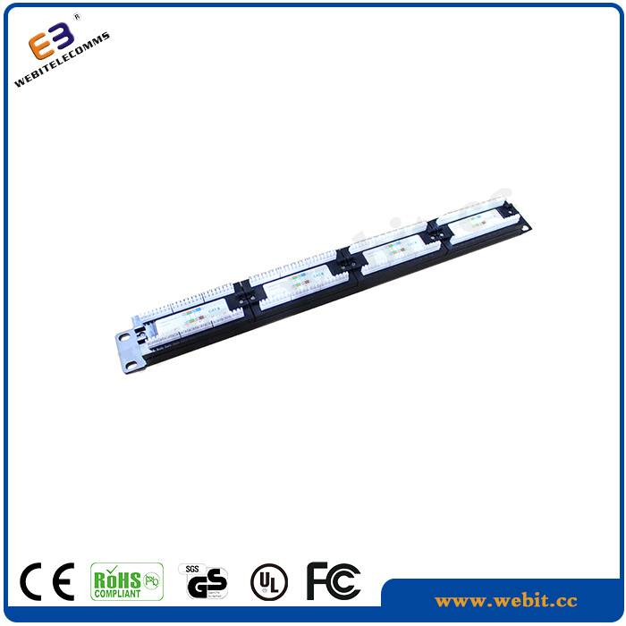 19 Inch 1u CAT6 Class E 1g UTP Patch Panel Without Bracket, Vertical Version Grey