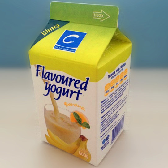 500ml 3 Layer Gable Top Carton for Milk and Juice
