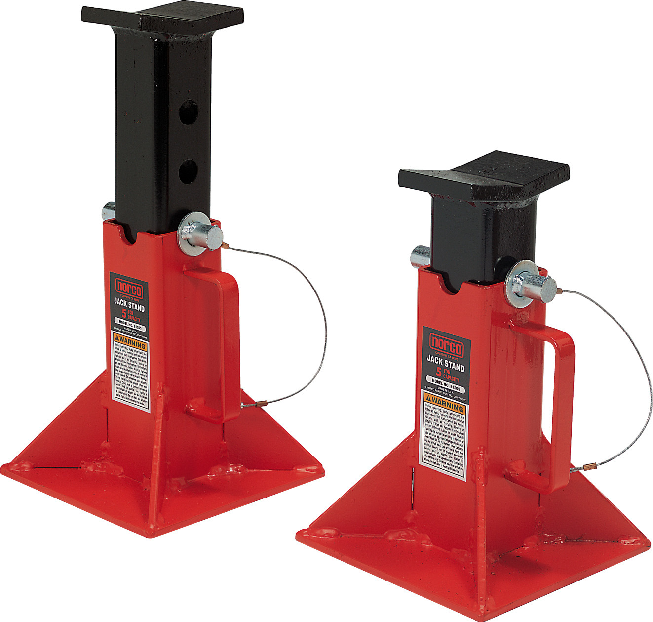5 Tone Fork Lift Support Stand, Pin Type Truck Jack Stand