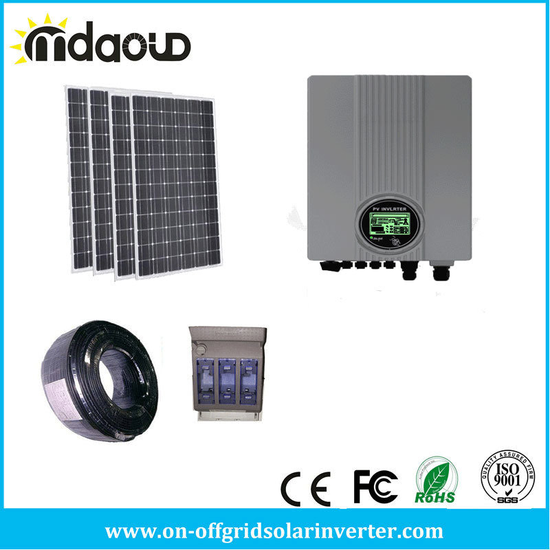on Grid Solar Kit Solar Panel PV/ 3000W 4000W 5000W Grid-Tie Inverter/Accessory