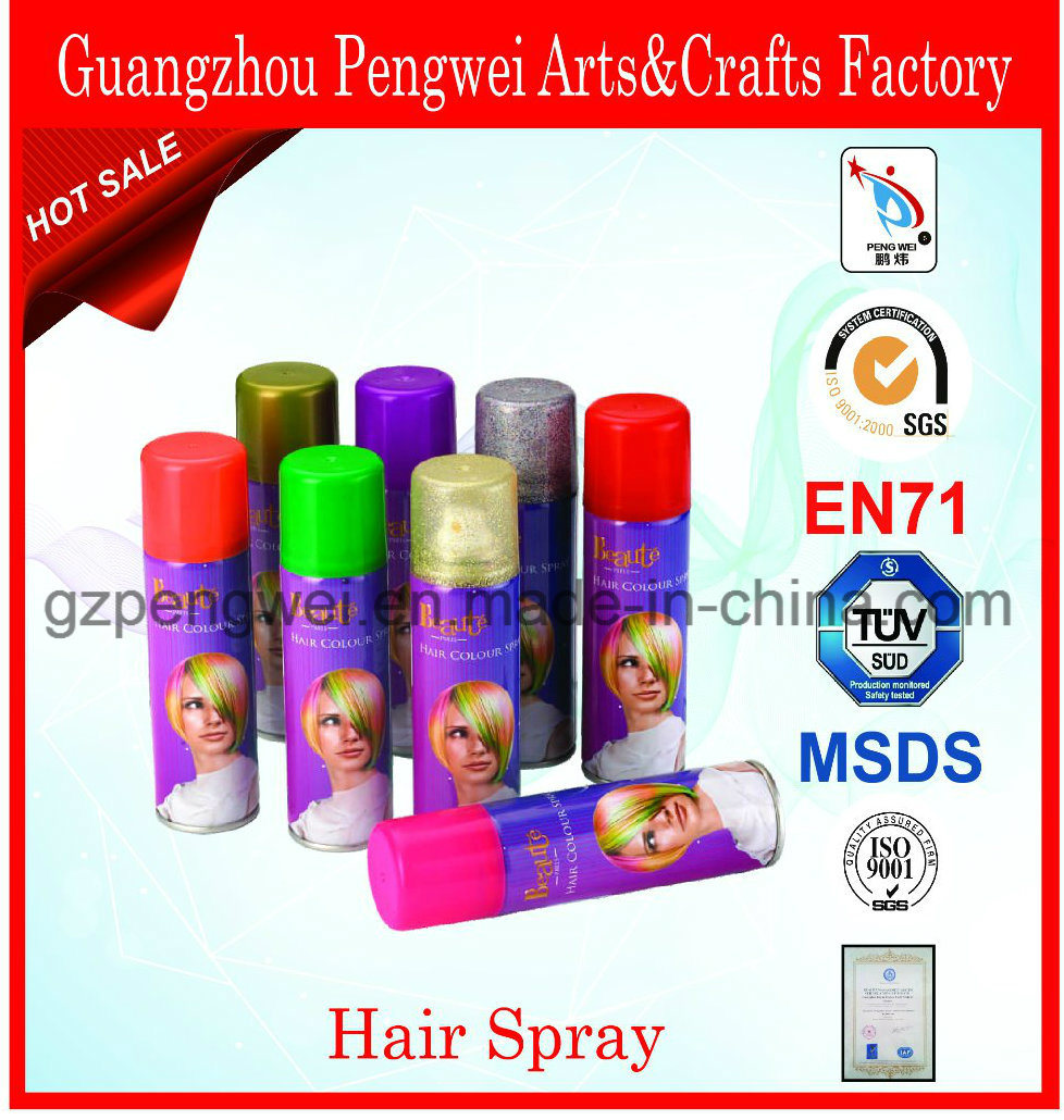 Fasionable Washable Mutilcolor Glitter Hair Spray