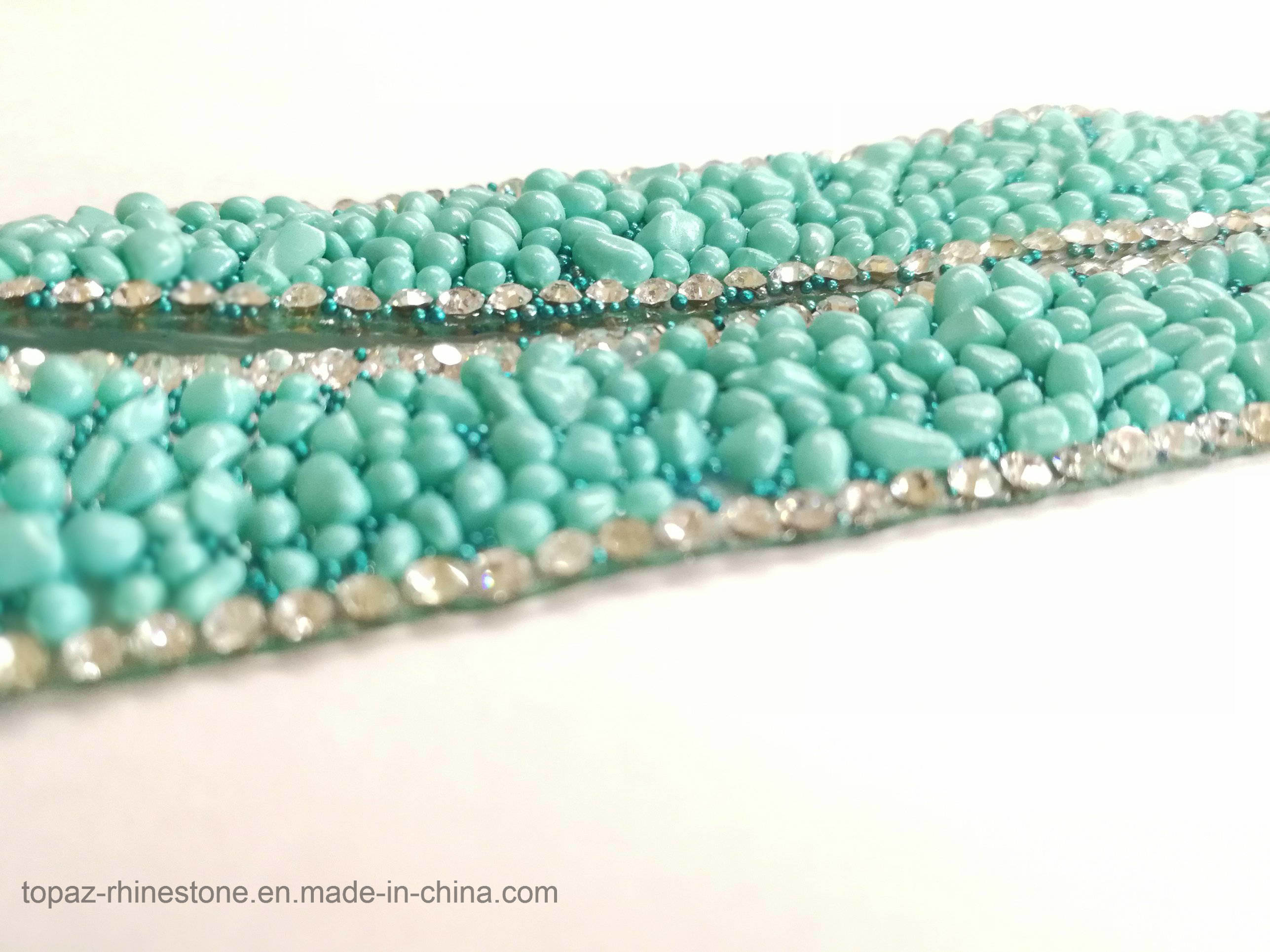 New Material 15mm Aquamarine Rhinestone Resin Chain Hotfix Rhinestone Chain (TC-15mm aquamarine)