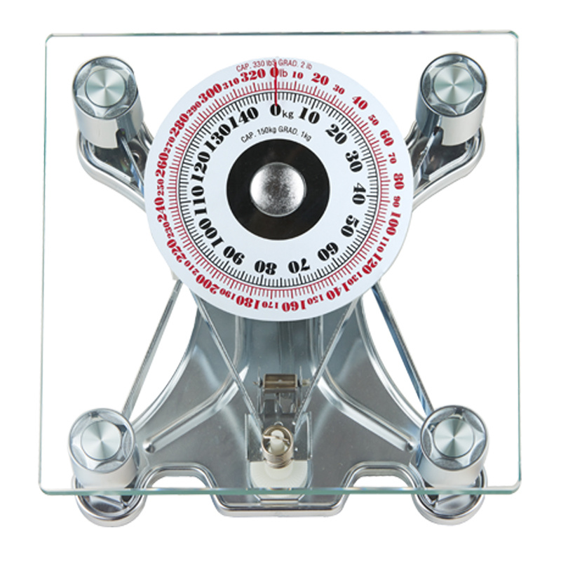 150kg Sqare Glass Large Dial Analogue Household Scale