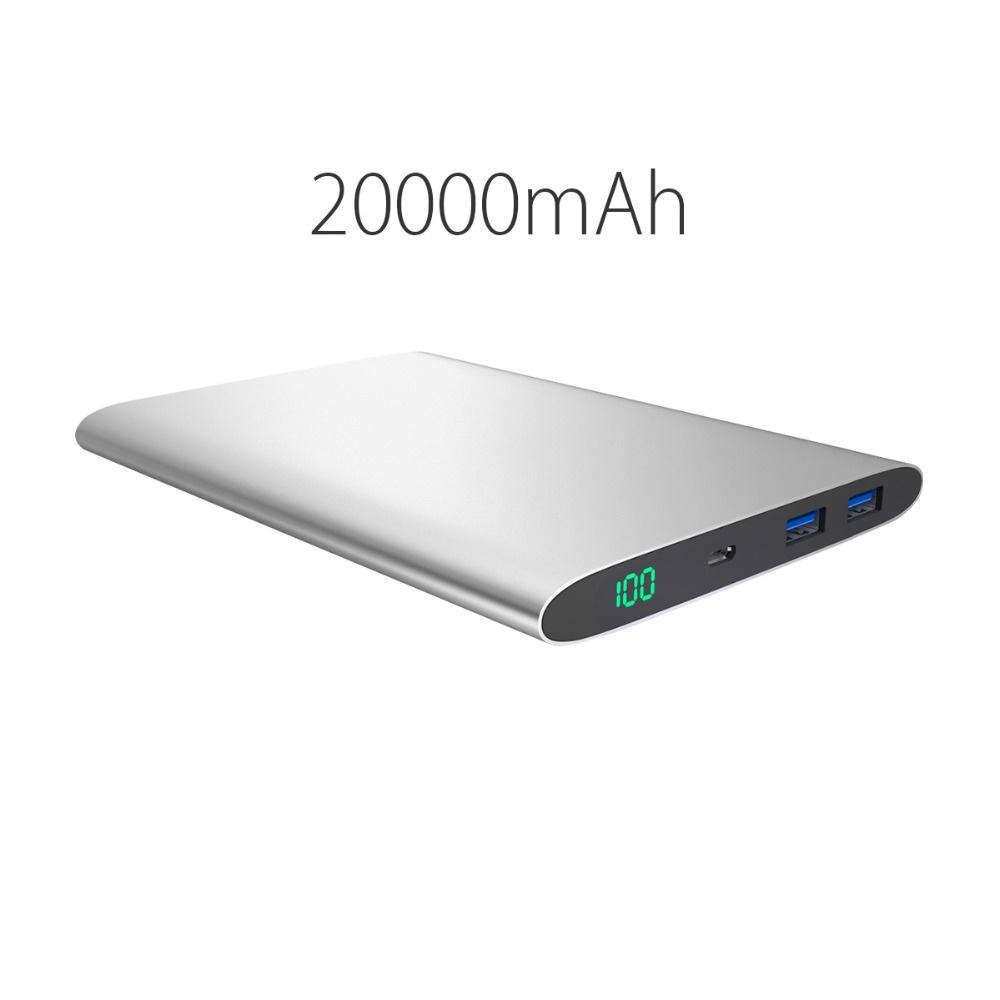 Ultra Slim 20000mAh 15000mAh 12000mmah Power Bank Dual USB