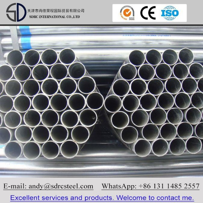 BS 1387 Hot DIP and Pre Galvanized Round Steel Pipe