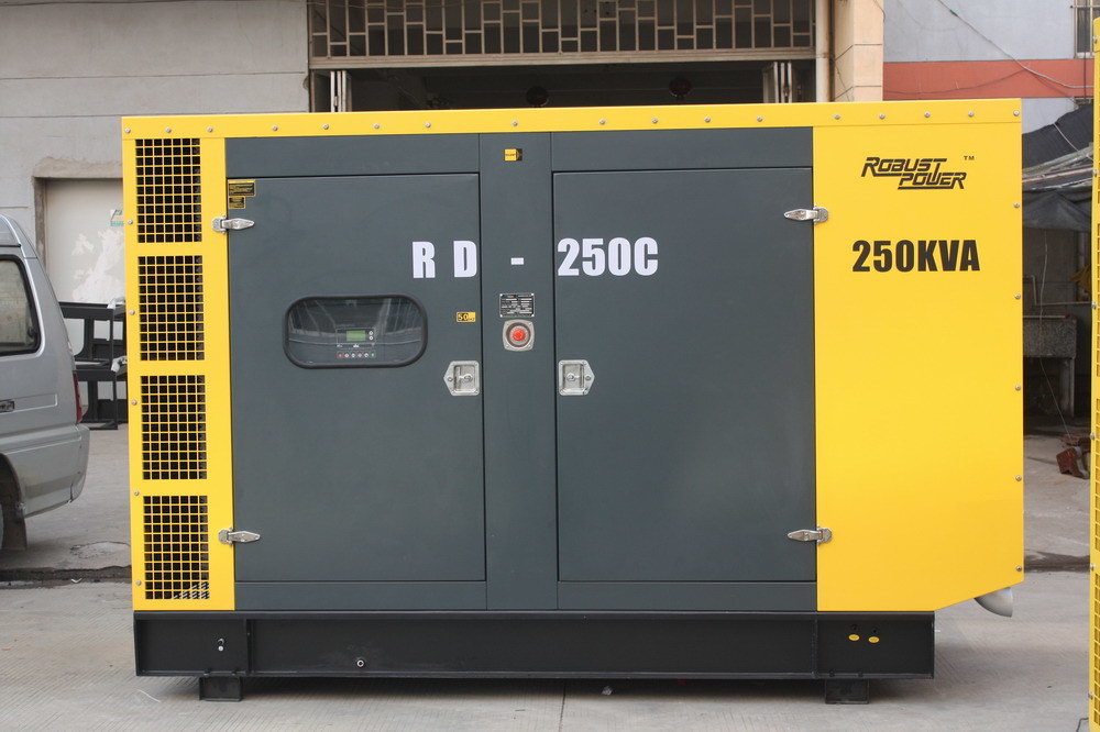 Soundproof, Water-Cooled Diesel Generator Alternator Genset Silence