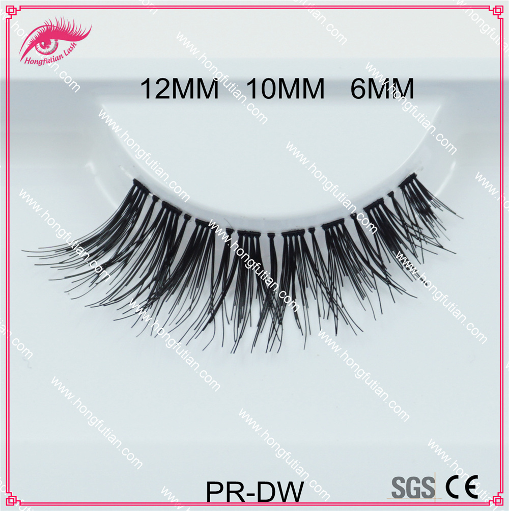 New Designed Wispy Style Human Hair Eyelash Dw False Eyelashes Wholesale