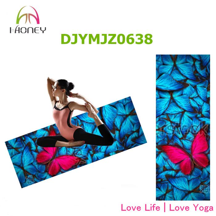 Non Slip Yoga Mat Combo Mat 2 in 1 Best for Hot Yoga / Bikram Pilates Yoga