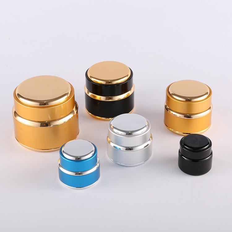 Gold Color Aluminum Glass Jar