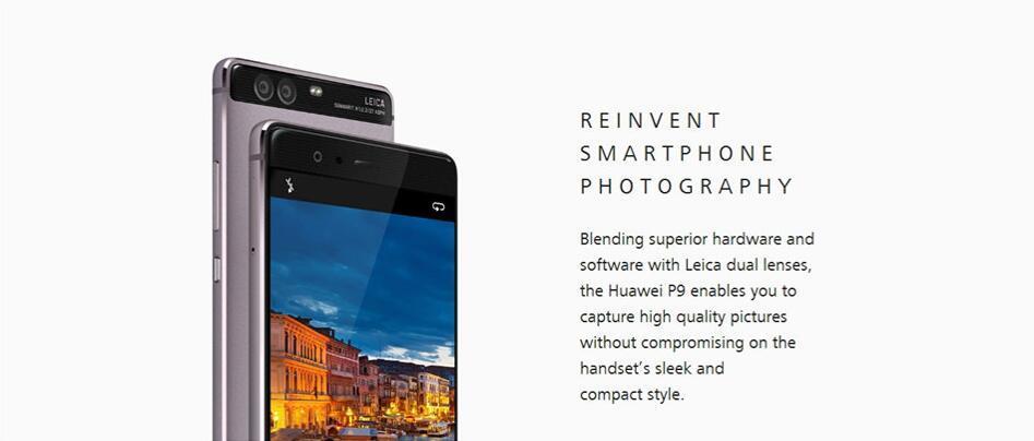 "Original Huawei P9 4G Lte Cell Phone Kirin 955 Android 6.0 5.2"" FHD 1080P 4GB RAM 64GB ROM Dual Back 12.0MP Camera Smart Phone Red"