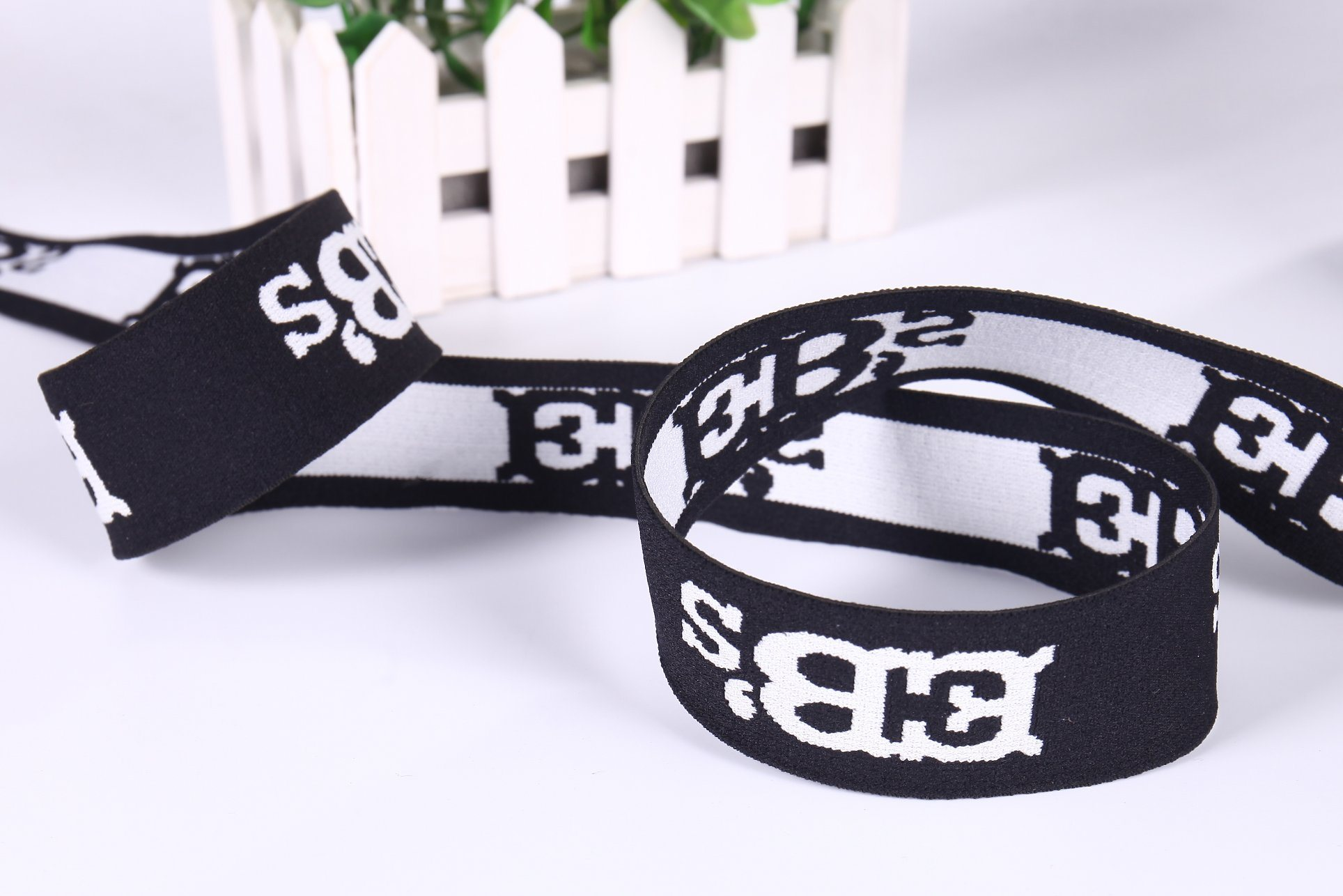 Wholesale High Elastic Band Nylon Jacquard Weaving Both Sides Webbing