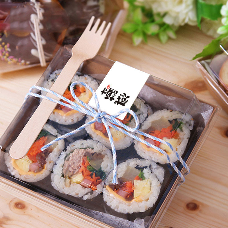 PET disposable clear plastic sushi/bread/cake food container