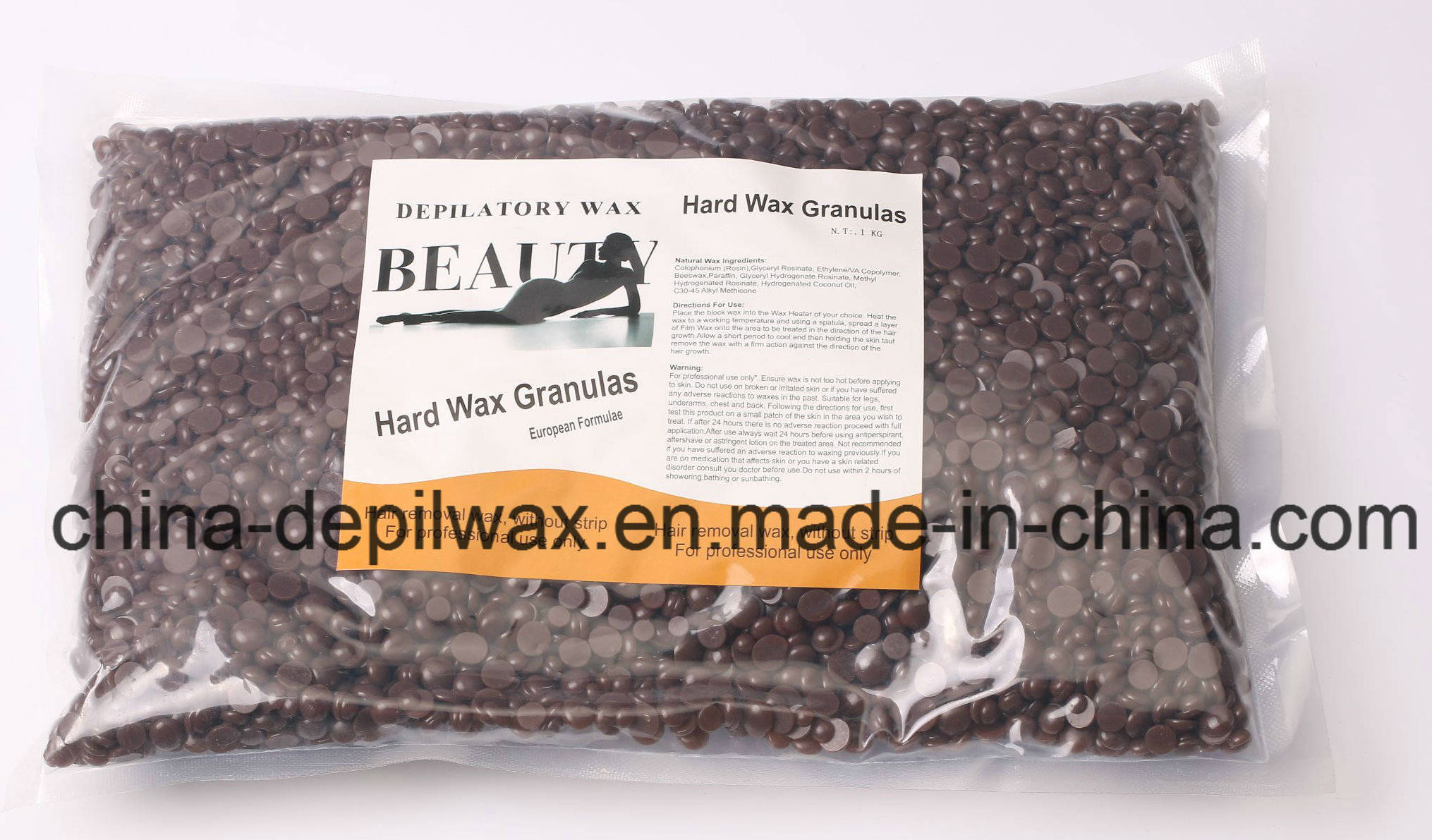 Natural Honey Hard Wax Pellets Depilatory Wax for Brazilian Waxing
