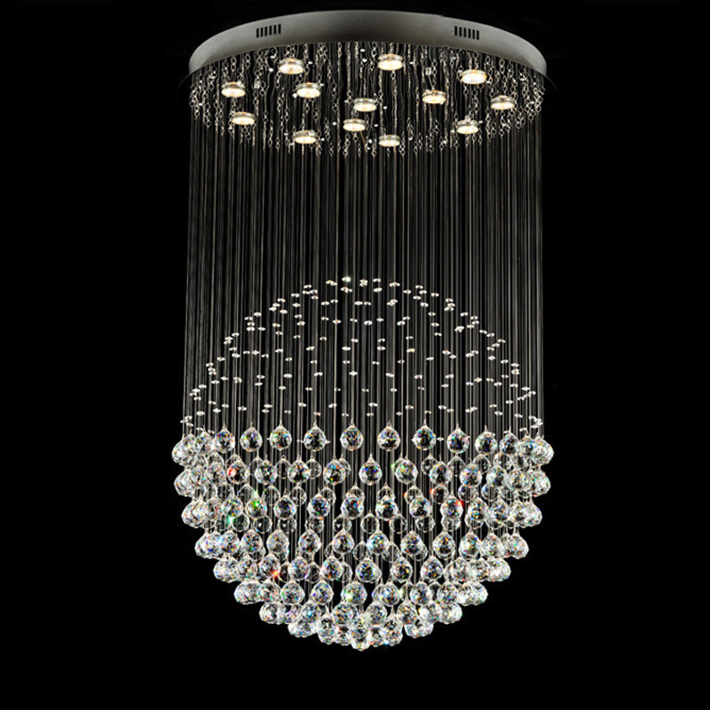 Popular Single Ball Crystal Pendant Light LED Chandeliers for Living Room Decoration 6002-13