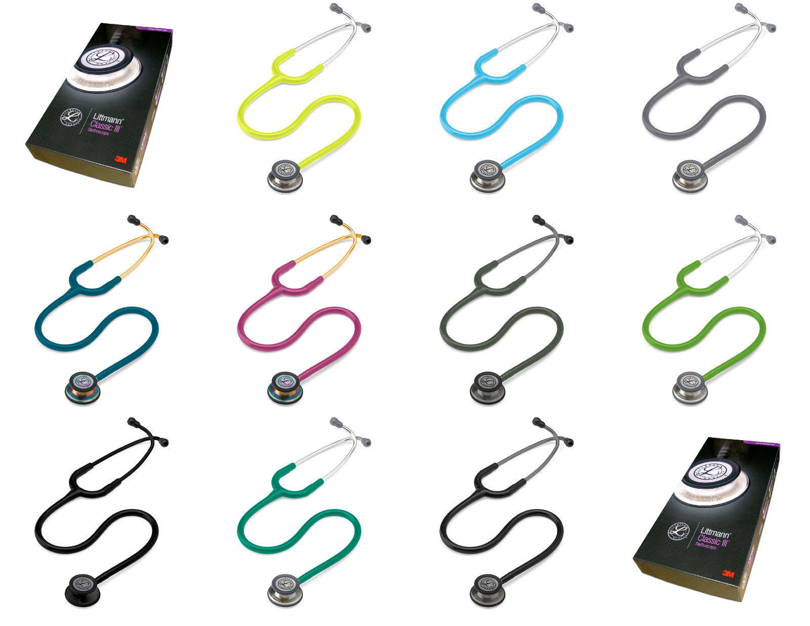 Medical Cardiology Dual Head 3m Littmann Classic III Stethoscope