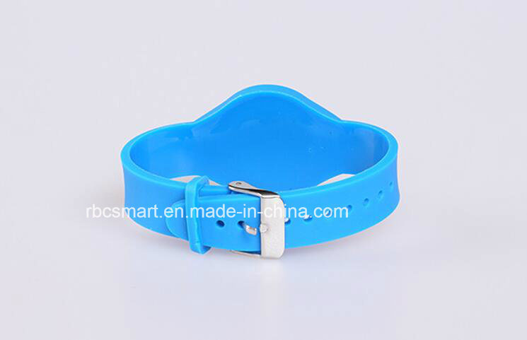 Hf 13.56MHz Passive Silicone Bracelets Wristband RFID Chip Tag for Promotion