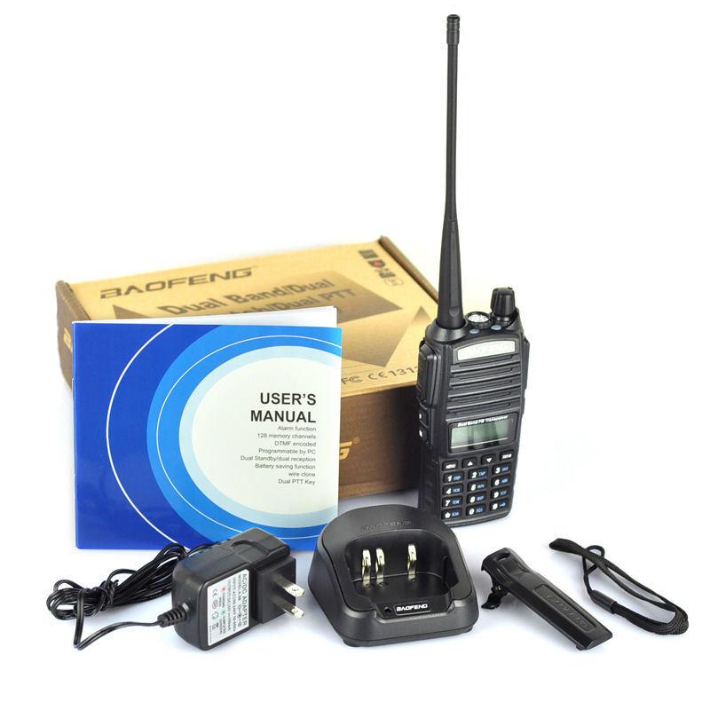 New Baofeng UV-82 2-Way Radio 136-174MHz / 400-520MHz U/V Dual Band 5W Handheld Walkie Talkie