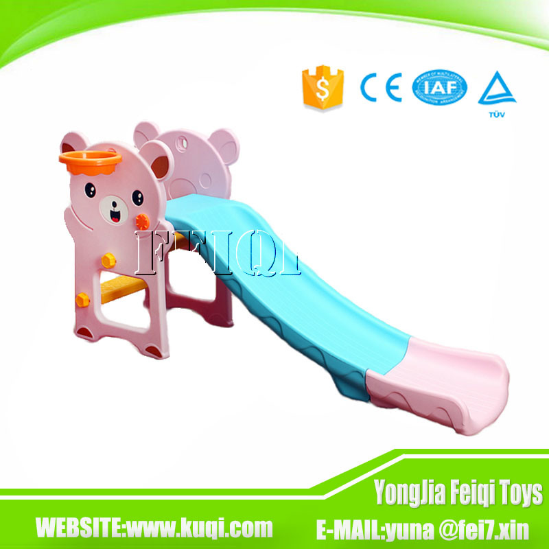 Indoor Playground Kid Toy Bear Plastic Children Slide for Kids