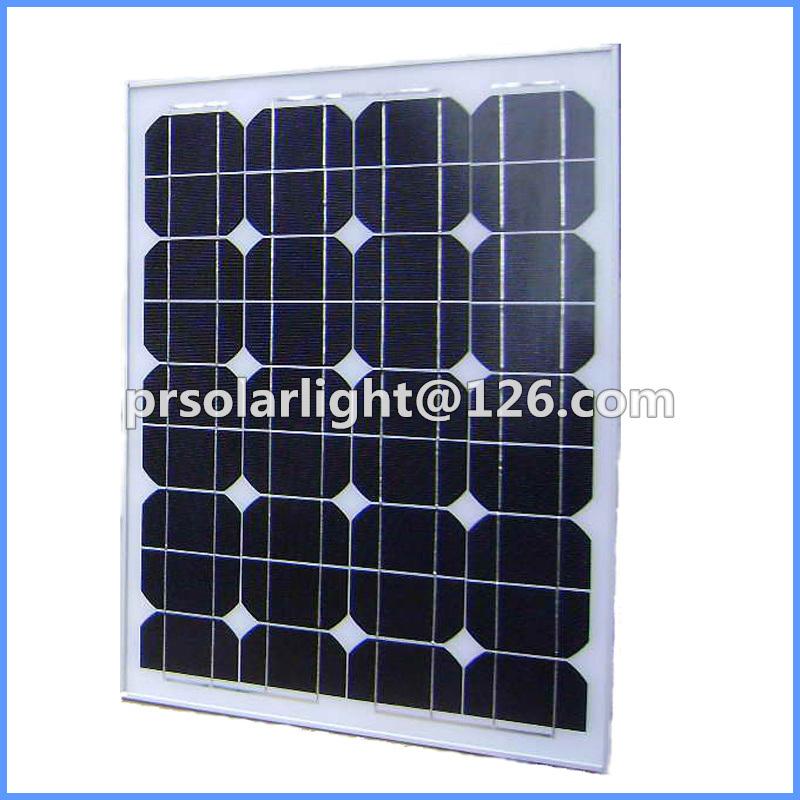 40W High Efficiency Mono Renewable Energy Saving PV Solar Panel