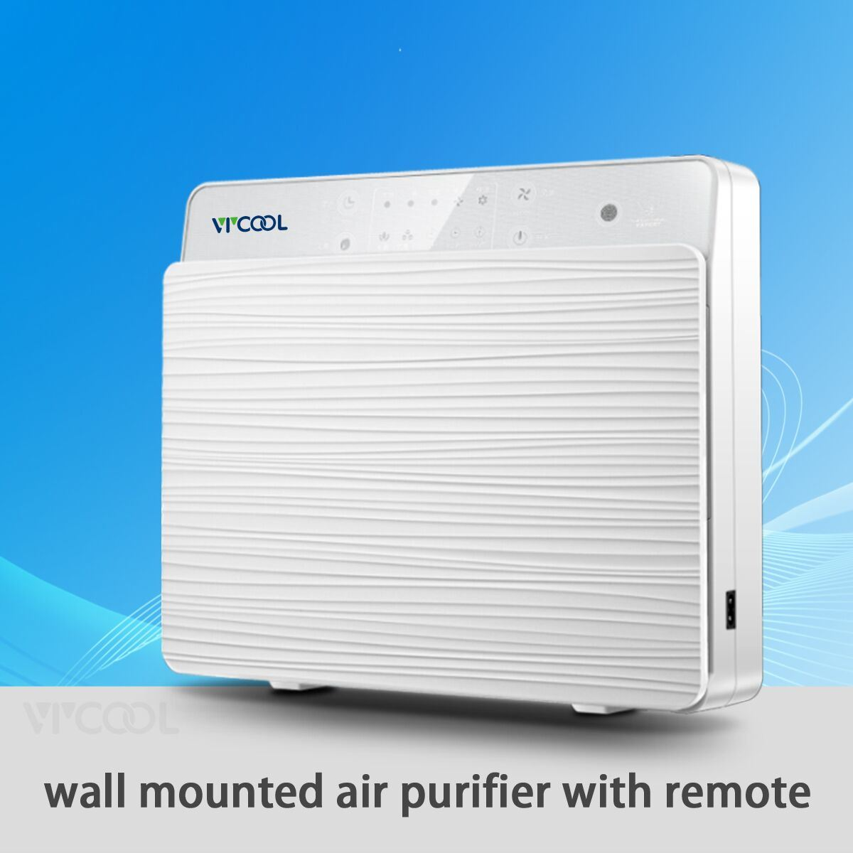 Wall Mounted Air Purifier with Two Fans and UV Lamp