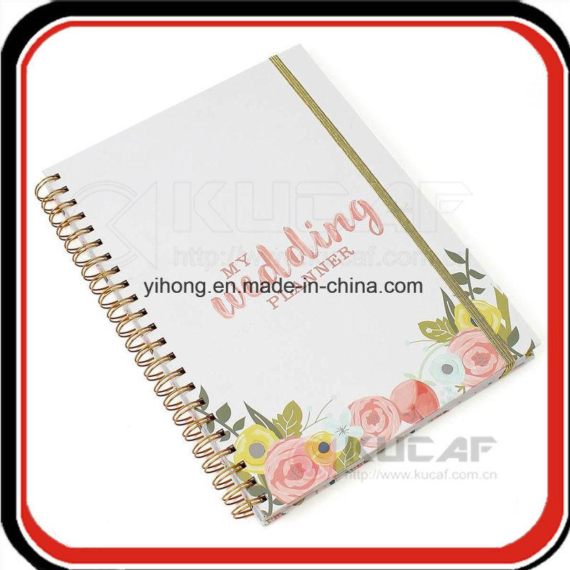 Custom Yo Binding Hardcover Weekly Happy Wedding Planner with Gift Box Packaging