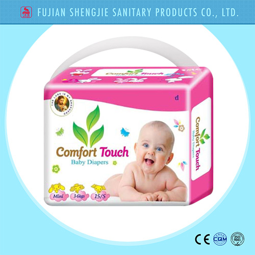 OEM Magic Tape Cloth Like Cover Smart Disposable Baby Diaper