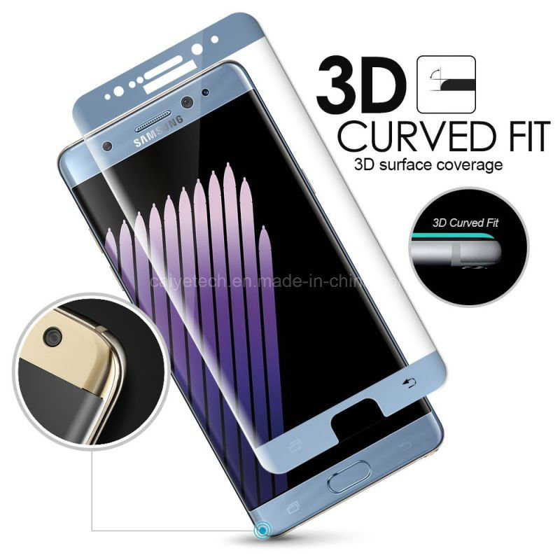 Cell Phone Accessories 3D Full Cover Tempered Glass Screen Protector for Samsung Galaxy S7 Edge