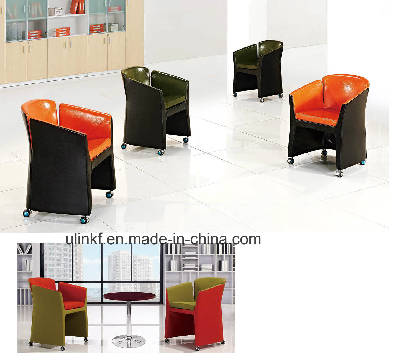 Foldable Conference Reception Sofa Chairs Hotel Lobby Furniture (UL-JT842)