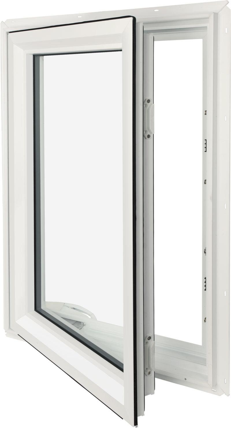 Popular Powder Coating White Casement Aluminium Window