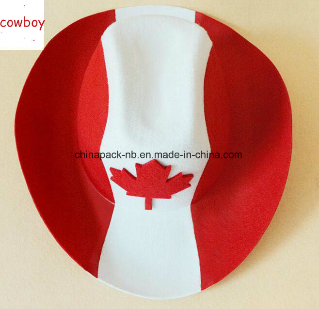 Canada Red Cowboy Hat Maple Leaf Adult Unisex (CPPH_025)
