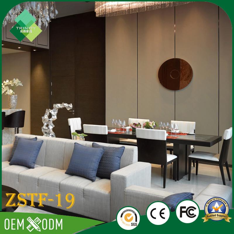 India Modern Style Teak Hotel Furniture Bedroom Set (ZSTF-19)