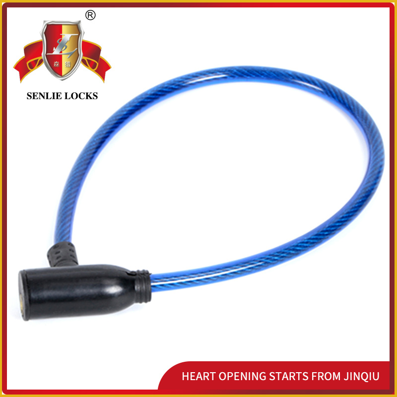 Jq8209 Security Bicycle Lock Motorcycle Steel Cable Lock with Pvu