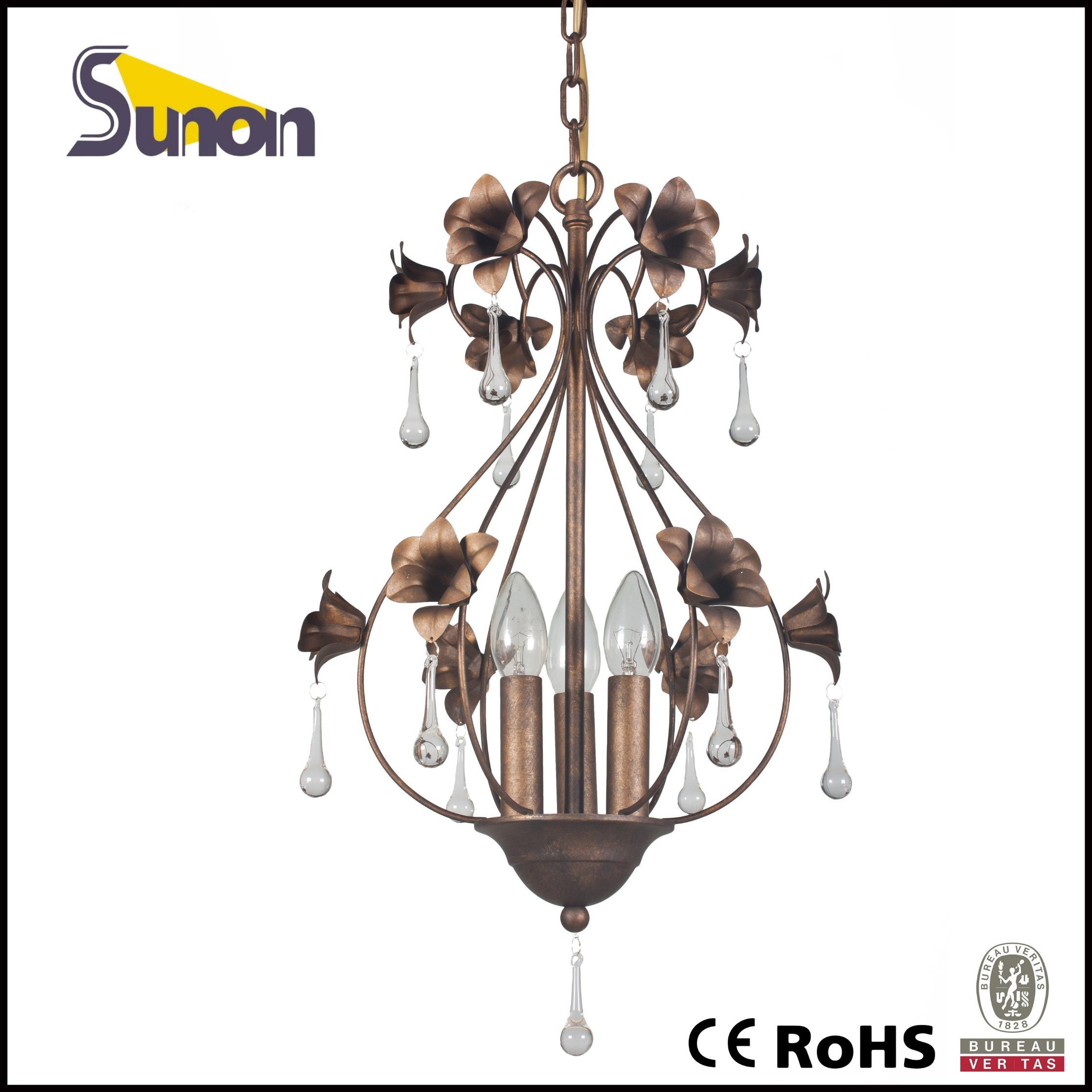 UL Approval Floral Dark Bronze Mini Pendant Light